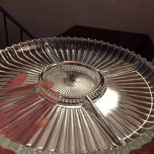 Oneida Dining - Oneida Silverplated Tray With Glass Insert
